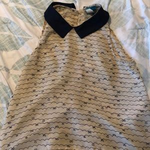 Sheer sleeveless blouse